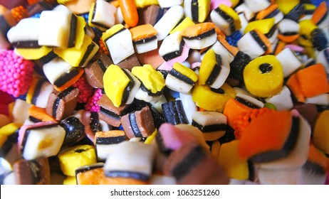 A heap of colorful candies