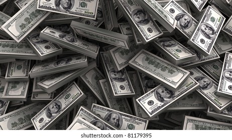 heap of dollars money background
