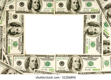 heap of dollars, money, frame