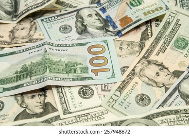 heap of dollars,  USD background texture