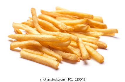 Heap of French fries isolated on  white background