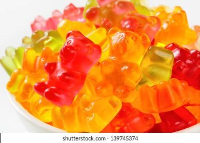 heap of fruity gummy bears