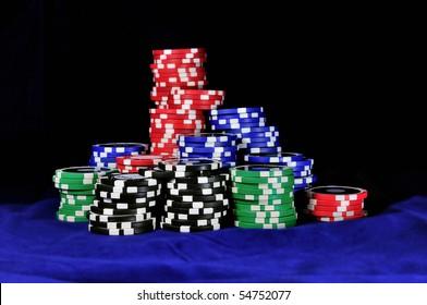 a heap of gambling chips