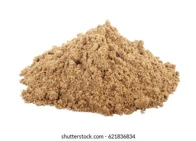 heap if ground nutmeg isolated