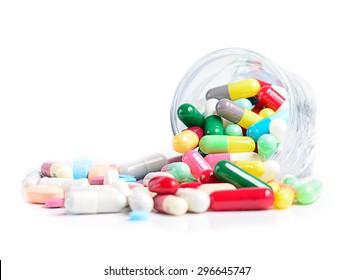 Heap of medicine pills.