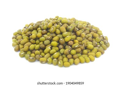 Heap mung beans isolated on white background