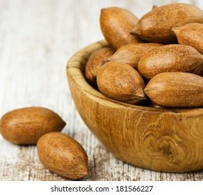 Heap of pecan nuts