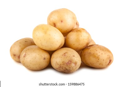 Heap of potato isolated on a white background