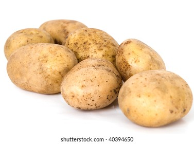 Heap of potato isolated on the white