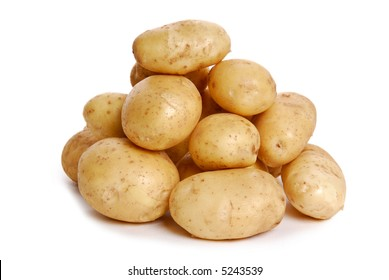 Heap of potato isolated on the white background
