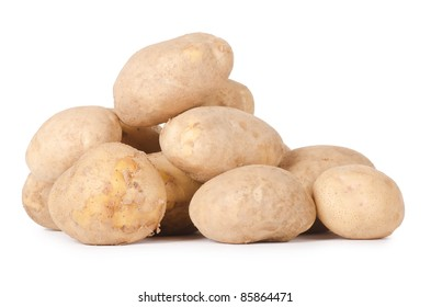 Heap of a potato isolated on white
