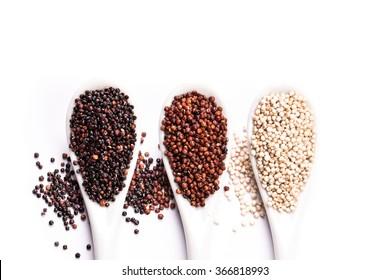 Heap of  quinoa,healthy vegan food concept