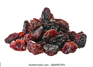 heap of raisins with clipping path on a white background isolated
