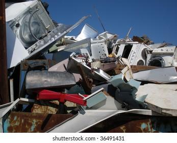 Heap of recycling metal