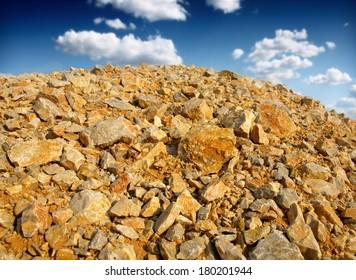 heap rocks