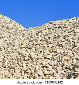 Heap of rubble on the construction site.
