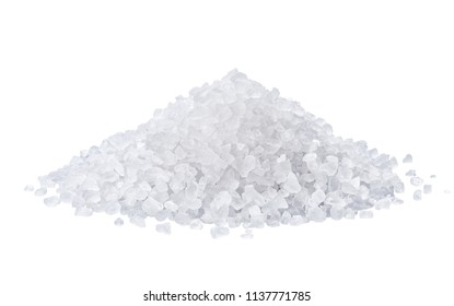 Salzhefe einzeln auf weißem Hintergrund mit Beschneidungspfad
