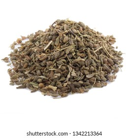 heap of seeds of anise isolated on white background