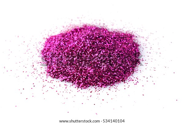 Heap Shiny Purple Glitter Makeup Isolated Stock Photo Edit Now