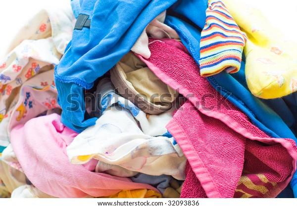 Heap Wash clothes close-up