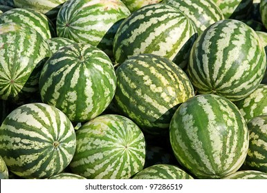 A heap of water-melons