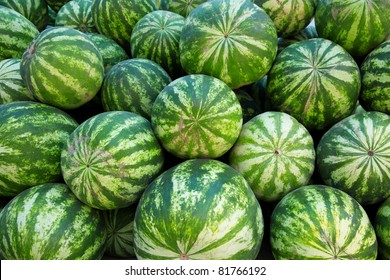 Heap of watermelons. Can be used as background
