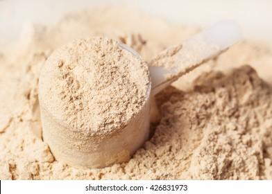 heap of whey protein powder