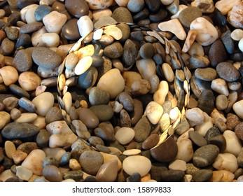 Heap of the yellow stones textures macro