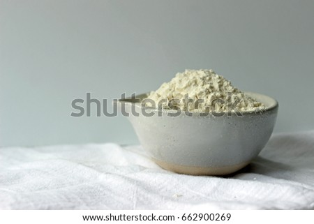 heaping cup white flour rustic off stock photo edit now 662900269