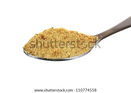 heaping spoon full coconut palm sugar stock photo edit now