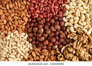 heaps of different nuts