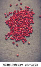 Heaps of pink pepper