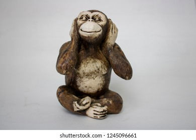 Hear no Evil Monkey from the concept of see no evil, hear no evil and speak no evil.