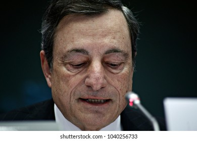 Hearing of the Economy Committee on Economic and Monetary Affairs of the European Parliament with Mario Draghi, President of the European Central Bank in Brussels, Belgium on Feb. 6, 2017.