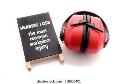 Hearing Loss. The most common workplace injury. Health and safety conceptual.