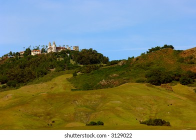Hearst Castle as viewed from Highway One in Central California