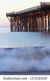 Hearst Pier in San Simeon State Park, near Cambria and San Luis Obispo, Highway 1, central California, USA