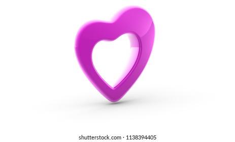 Heart. 3D Illustration.