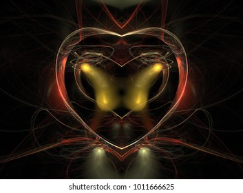 heart in abstract
