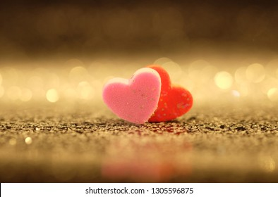 Heart with abstract and bokeh background