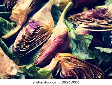 Heart of artichoke food photgraphy recipe idea