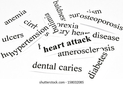 Heart attack. Health care concept of diseases caused by unhealthy nutrition