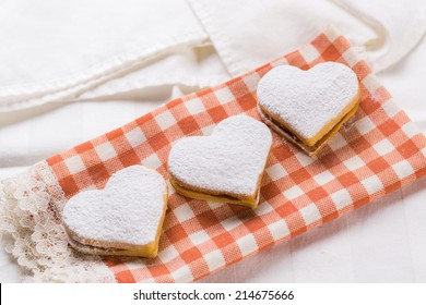 Heart  baked cookies