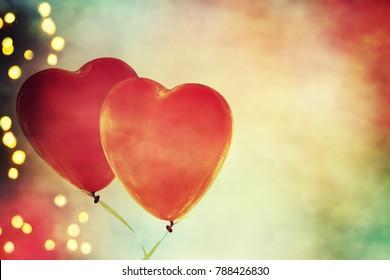 Heart balloon background