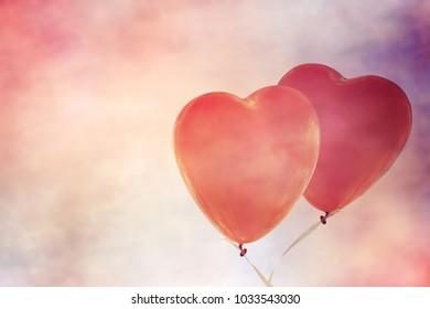 Heart balloon backgrouond