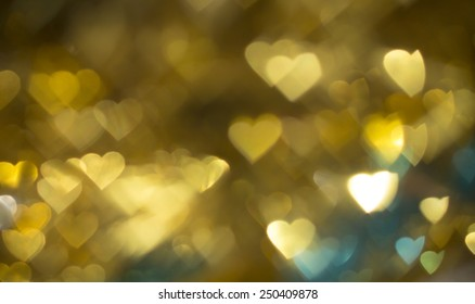 Heart bokeh background blur. Valentine's day background