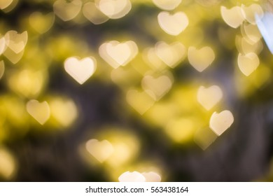 Heart bokeh background, Love concept