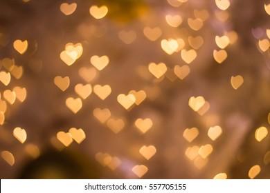 Heart bokeh background, Love Valentine day concept