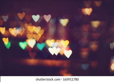 Heart bokeh background. Valentine's day background