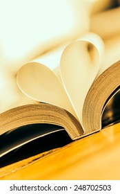 Heart book - vintage effect style pictures